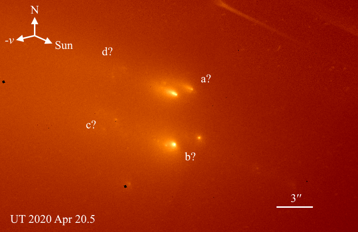 Хаббл зняв комету, що повинна була пролетіти повз Землю в кінці травня але розпалася