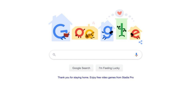 У новому дудлі Google радить зайнятися на карантині корисним дозвіллям