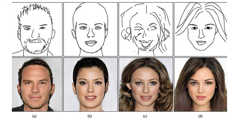 Вчені навчили ШІ перетворювати начерки в фотореалістичні портрети