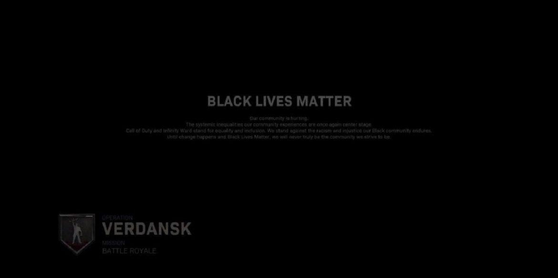Розробники Call of Duty додали на екран завантаження слова з підтримкою руху Black Lives Matter