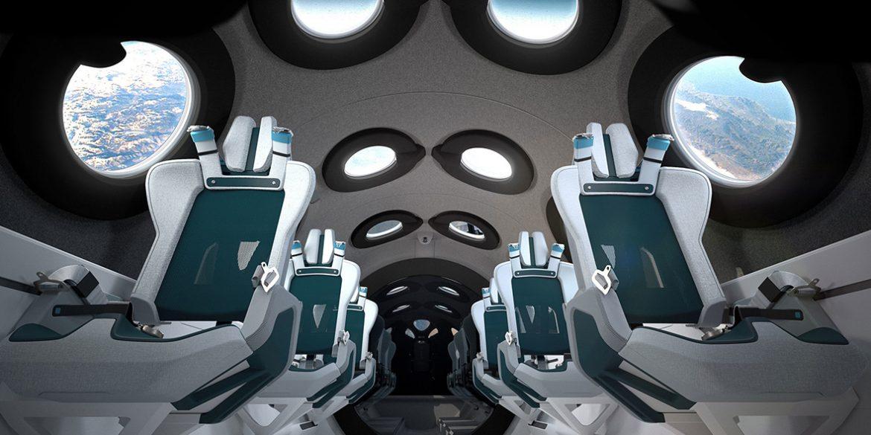 Virgin Galactic показала інтер'єр туристичного космічного корабля