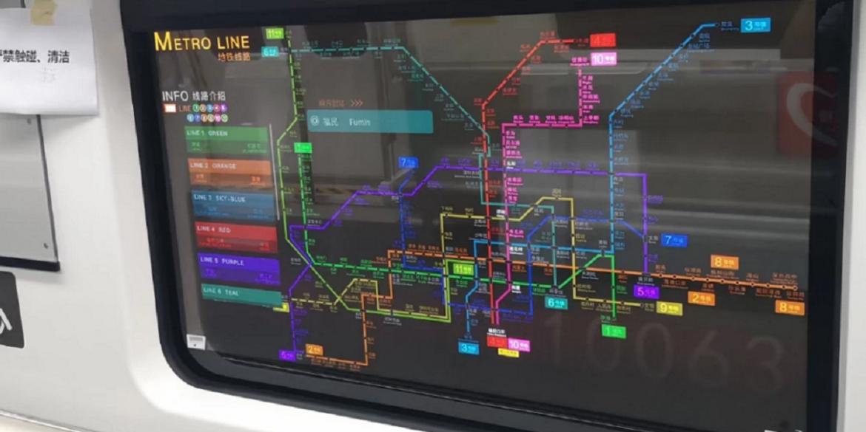 LG замінив вікна в китайському метро на прозорі OLED-дисплеї