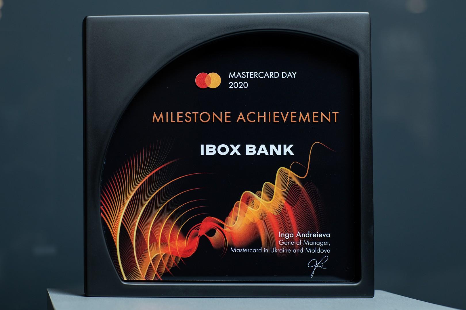 IBOX Bank отримав нагороду Milestone Achievement на Mastercard Day 2020 за отримання статусу принципального члена Mastercard