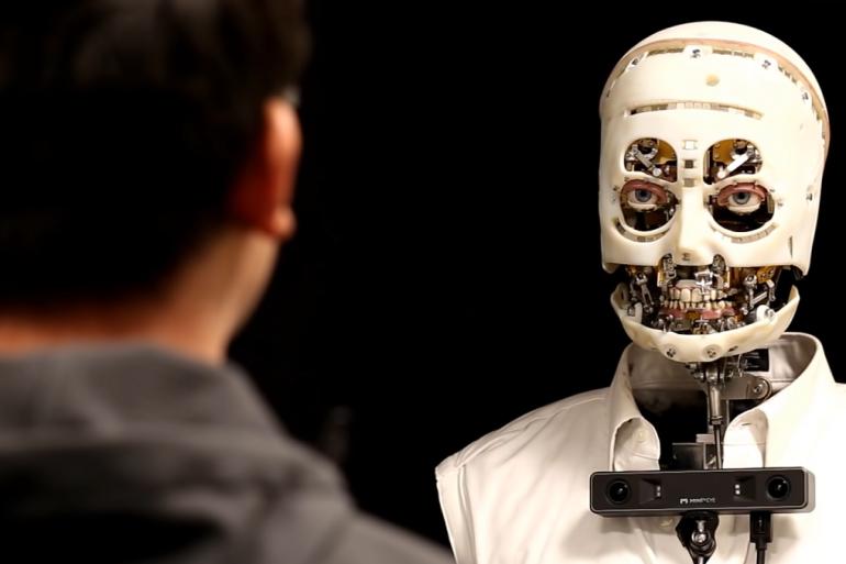 Disney научили робота копировать человеческую мимику