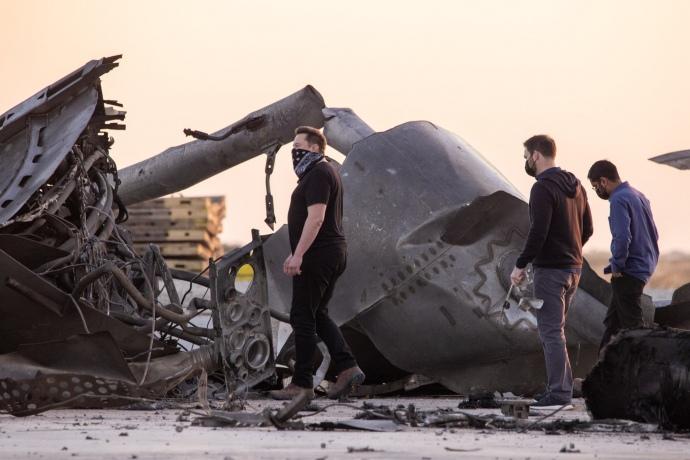 Як виглядало падіння космічного корабля Starship від SpaceX