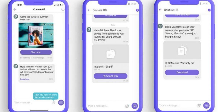 Viber запустив функцію обміну файлами між бізнесом і клієнтами