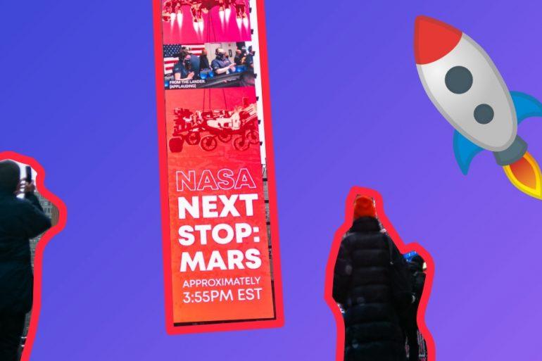 Посадка Mars Perseverance на Марс. Показываем, что в это время происходило на Земле