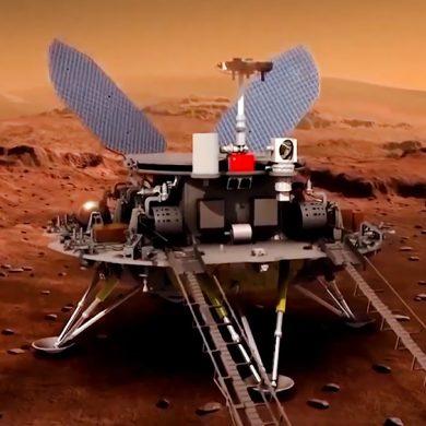 Китайський марсохід «Чжужун» надіслав яскраві селфі з червоної планети