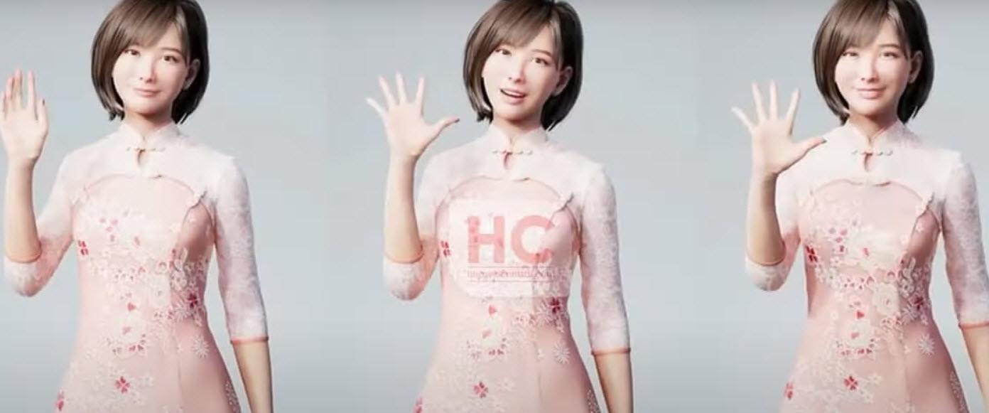 Huawei представила первого виртуального человека. видео