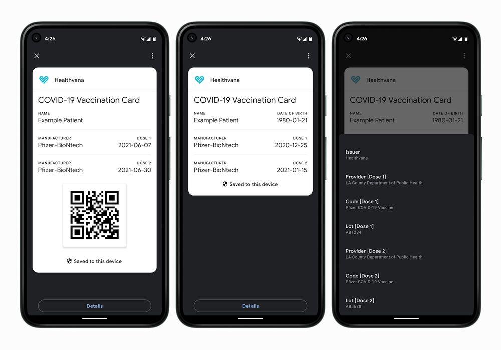 У смартфонах Android з'являться цифрові COVID-сертифікати