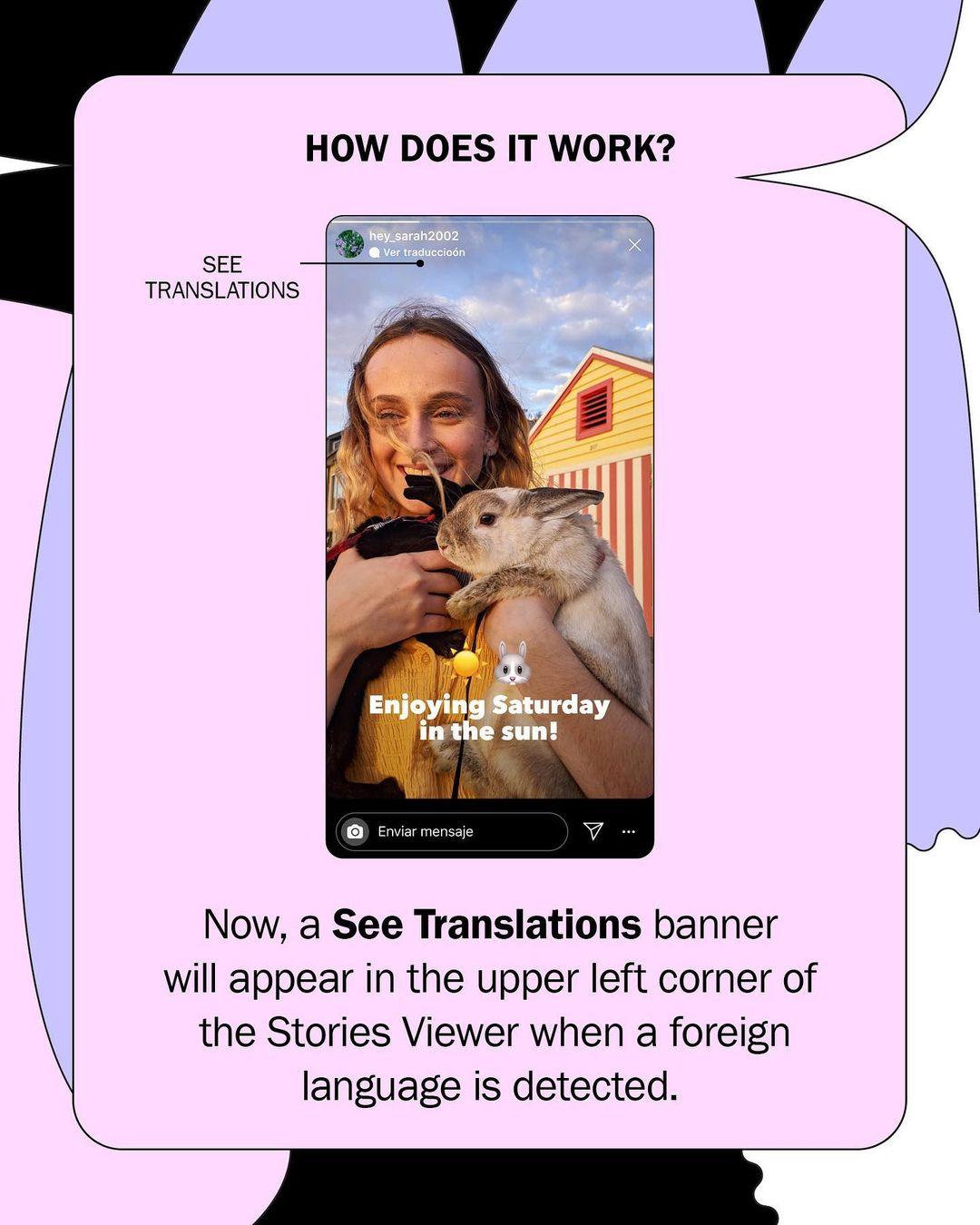 Instagram запустив переклад тексту у Stories