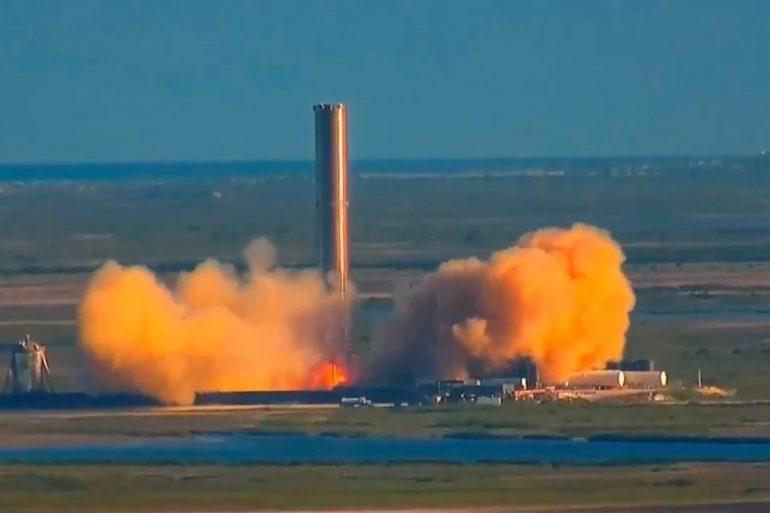 SpaceX успішно провела випробування ракети Super Heavy з трьома двигунами Raptor