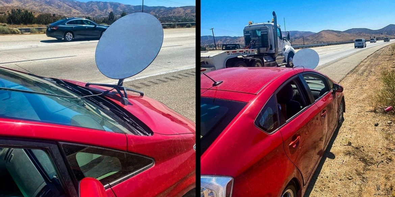 Поліція Каліфорнії оштрафувала водія за установку антени Starlink на автомобіль