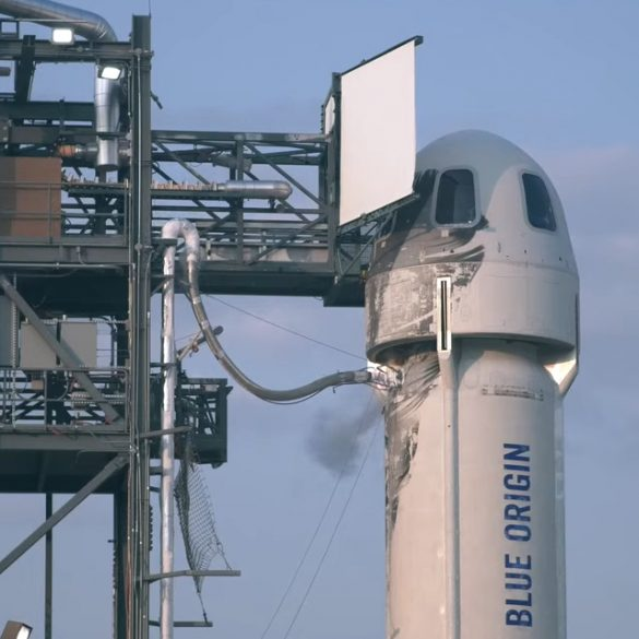Безос показал, что творилось на корабле New Shepard во время полета в космос