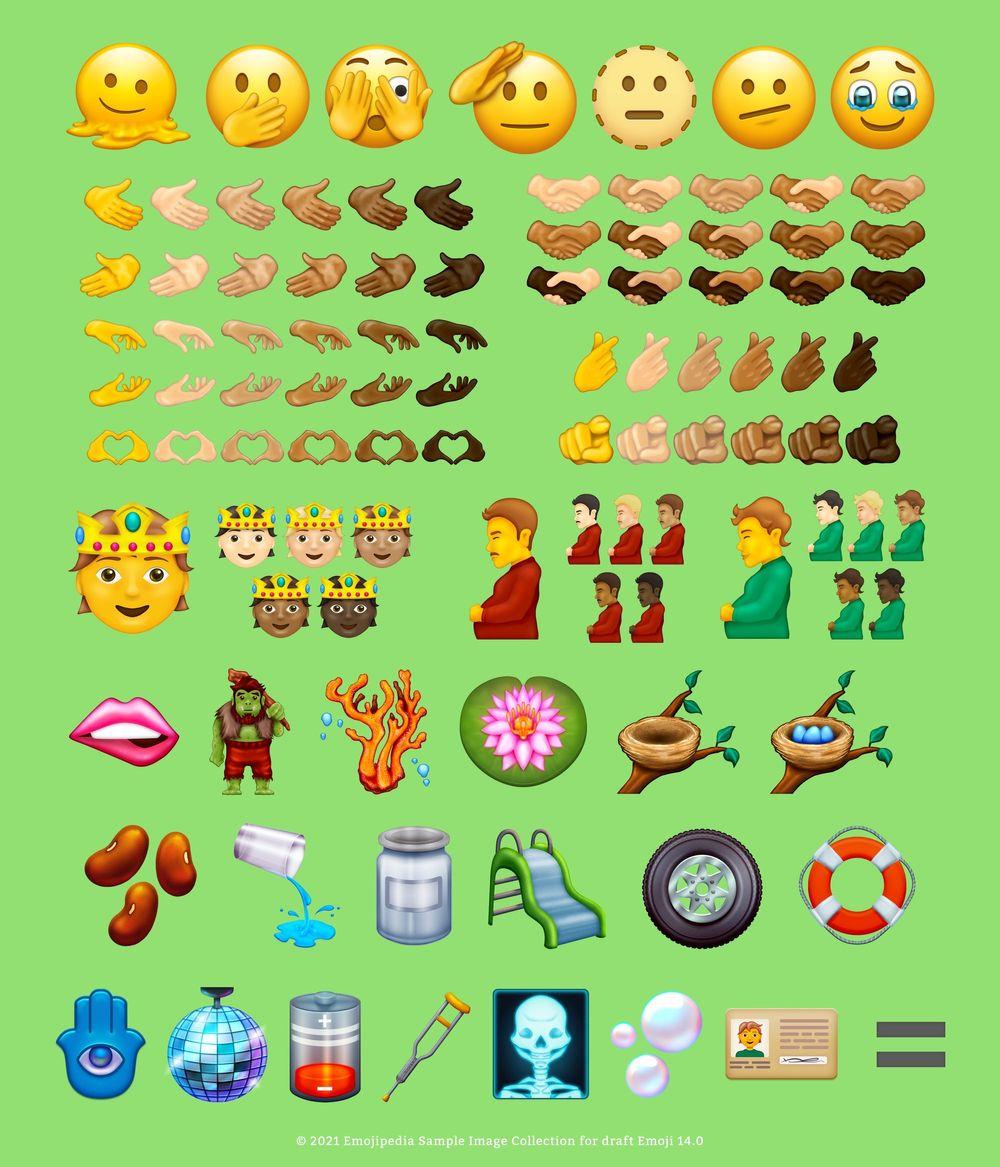 В Unicode 14.0 появятся новые гендерно-нейтральные емодзи