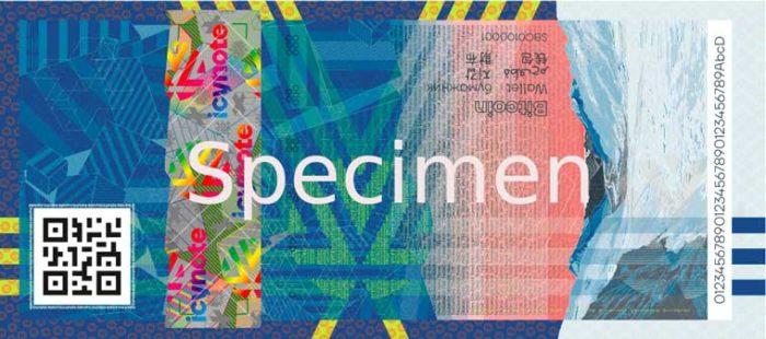 Як виглядає швейцарський біткоїн-гаманець у формі банкноти. Відео