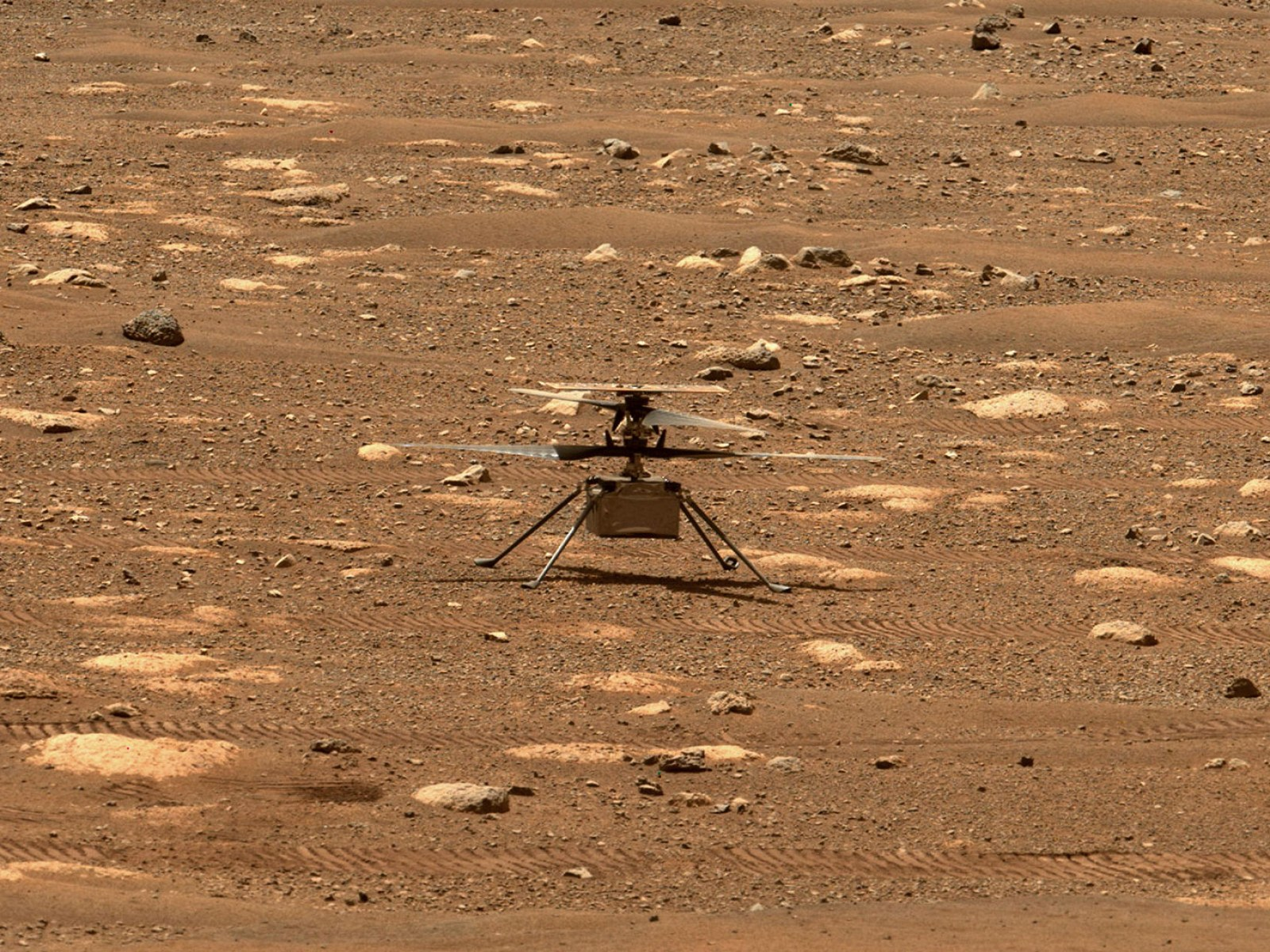 Вертолет NASA прислал новые яркие снимки с Марса