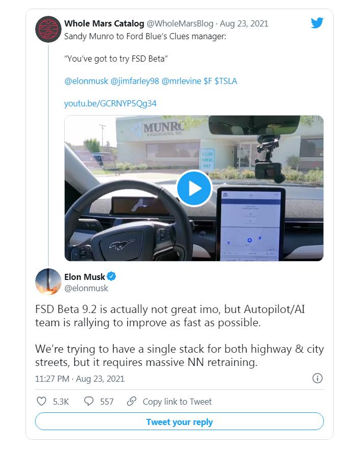 Ілон Маск погодився з критикою автопілота Tesla