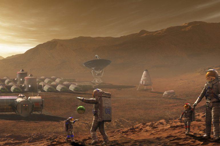 Вчені запропонували робити будівлі на Марсі з крові, сліз та поту астронавтів