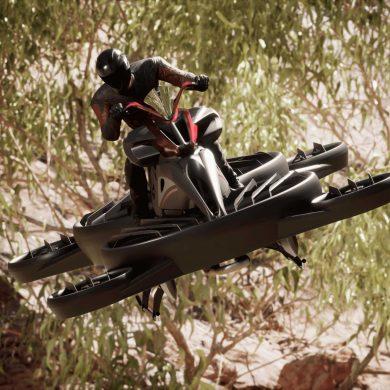 В Японии провели первые испытания летающего мотоцикла