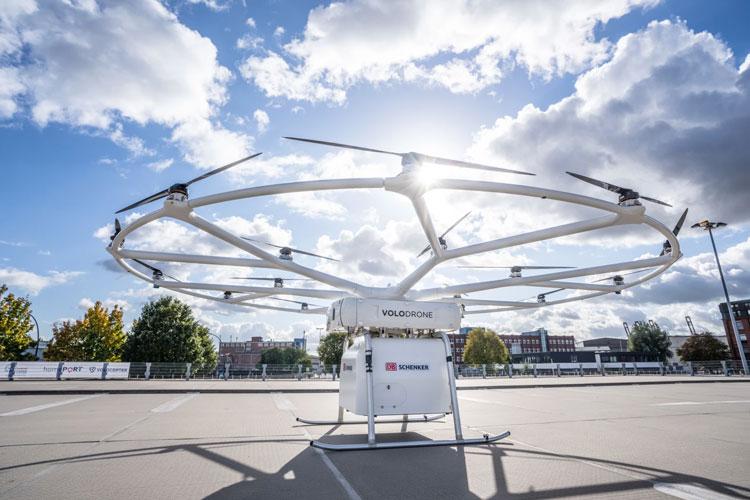 Volocopter провела перший політ вантажного дрона, здатного перевозити до 200 кг